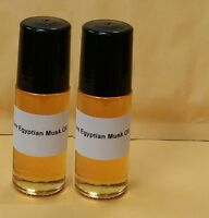 2 Bottles Pure Egyptian Musk Oil Imported From Egypt 1.0 Oz Roll On Free Ship