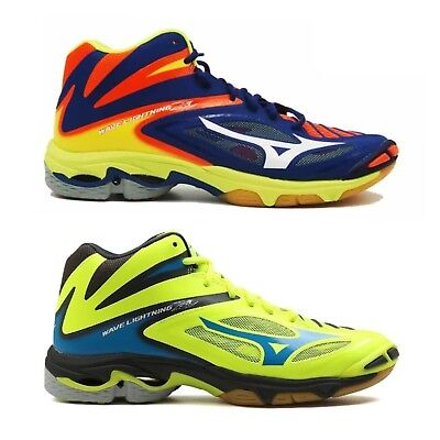 Dettagli su MIZUNO wave lightning z3 mid scarpe pallavolo uomo blu gialla volley V1GA1705
