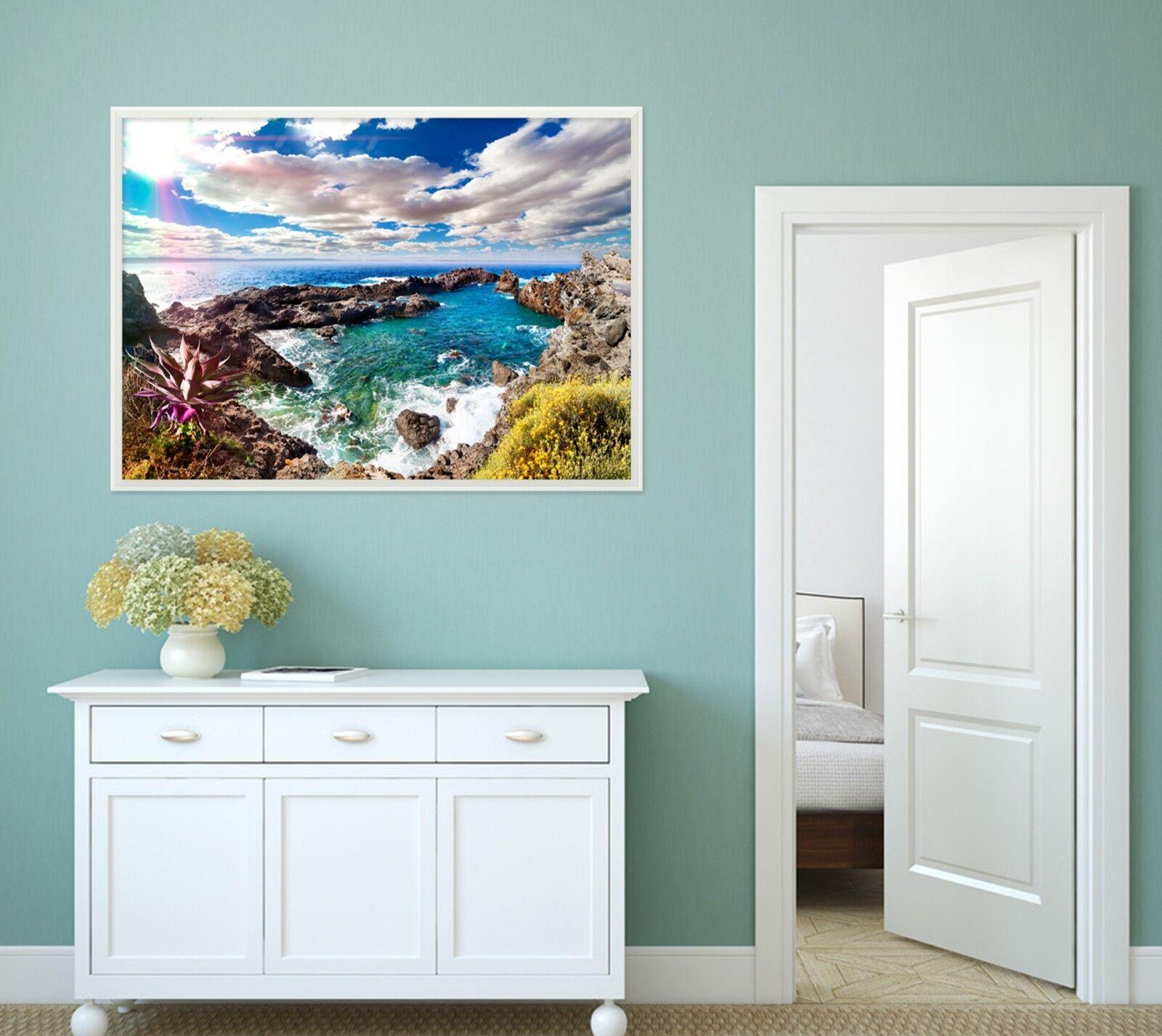 Nube 3D sol paisaje 2 Enmarcado Póster Decoración del Hogar Pintura de Impresión Arte Wallpaper