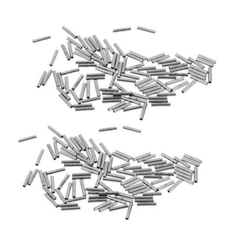 Angeln Klemm Hülsen Verbindung Clip Haken Schnur Sicher Verbinder Zubehör