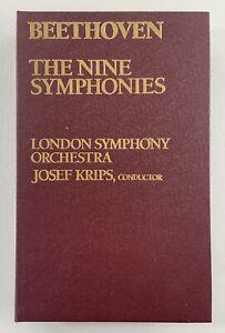 BEETHOVEN Nine Symphonies London Orchestra JOSEF KRIPS 5 Cassette Tapes Everest
