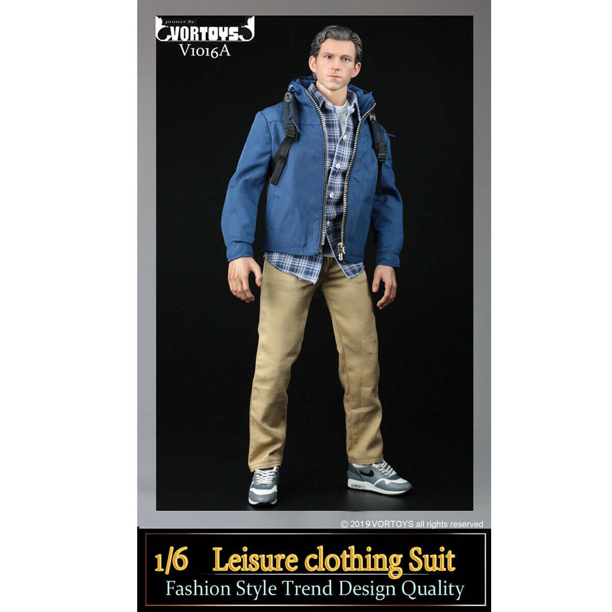 VORTOYS 1 6 V1016A Male Casual Coat Leisure Clothing Suit Set For 12  Figure Toy