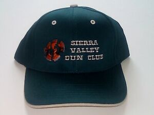 Sierra-Valley-Gun-Club-Skeet-Trap-Sporting-Clays-Shotgun-Baseball-Hat-NEW-Green