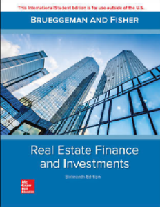 Real Estate Finance & Investments (16  International Edition)
