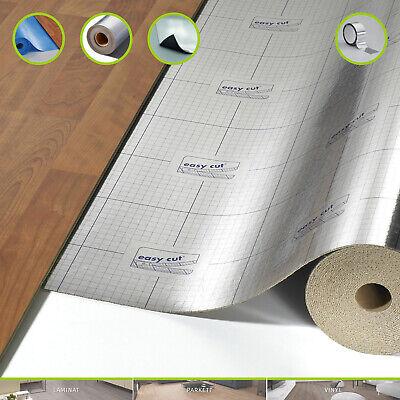 30 m/² Tritt /& Gehschalld/ämmung Laminat und Korkboden Vinyl Trittschalld/ämmung ALU Dampfsperre 1,8 mm Starke Unterlage f/ür Voll Vinylb/öden