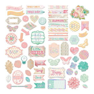 HEAVEN-SENT-2-63-Gorgeous-BABY-Chipboard-Stickers-Prima