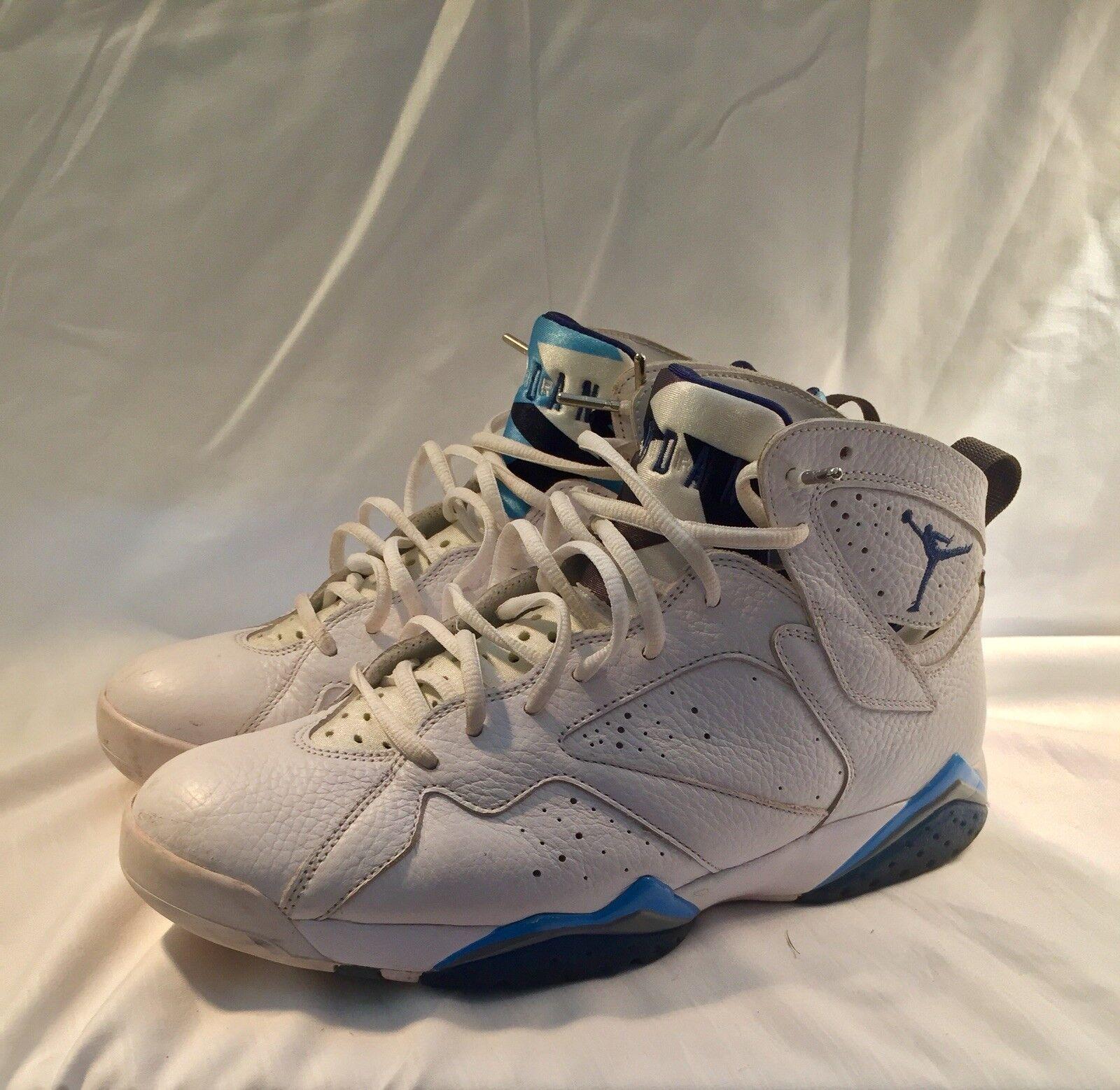 Jordan francese blu 7 retrò nike dimensioni nike autentico basket scarpa