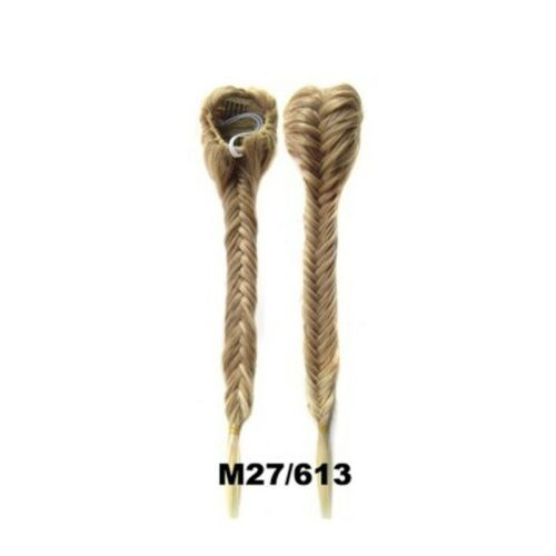 Clip In Fishtail Hair Extension Braided Long Ponytail Drawstring Plaited GO9