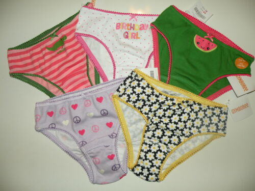 GYMBOREE U PICK 5 PAIR OF GIRLS PRINTED PANTIES UNDERWEAR SIZE 3 4 NWT #3