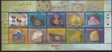 MALAYSIA :2008 Royal Headgear sheetlet SG 1506a unmounted mint