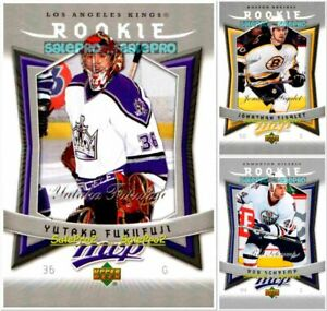 100-UPPER-DECK-UD-MVP-2007-NHL-RC-ROOKIE-LOT-U-PICK-FROM-THE-LIST-WHOLESALE