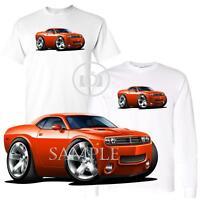 Dodge Challenger Rt Generation Orange Car Modern Graphic Art White T Shirt