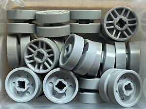 LEGO Parts No 11208 QTY 20 Light Bluish Gray Wheel 14mm x 9.9mm