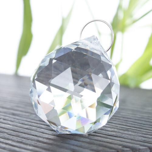 20PCS Clear Crystal Ball Pendant Chandelier Lamp Drop Prisms Home Decor 20MM