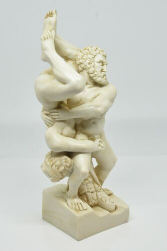 Statue of Hercules and Diomede-Made in Italy Statue Glossy Handcrafted