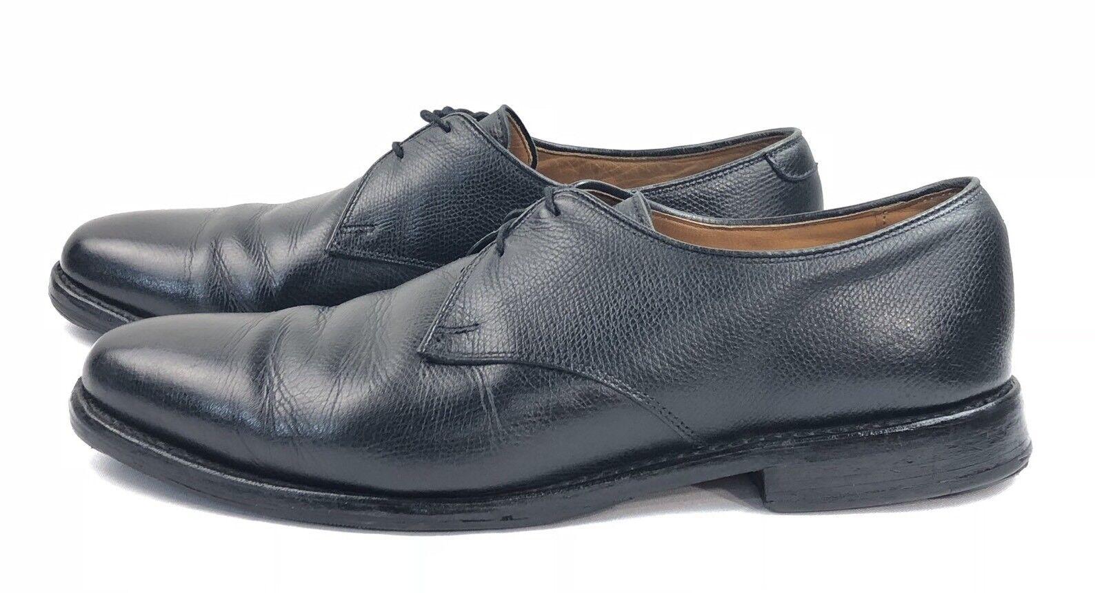 Allen Edmonds Lambert Negro Cuero Grano Oxford de vestir Zapatos Hombre US 9.5 B