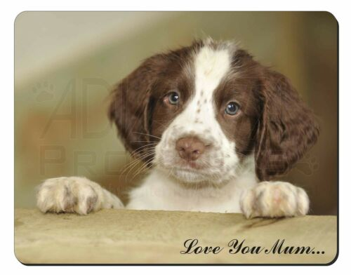 Springer Spaniel Pup 'Love You Mum' Computer Mouse Mat Christmas Gi, ADSS76lymM