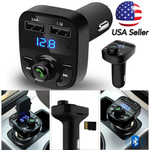 Wireless Bluetooth Handsfree Car Kit FM Transmitter MP3 Player Dual USB Charger