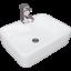 Modern-Bathroom-Counter-Top-Ceramic-White-Basin-Cloakroom-Gloss-Wash-Sink