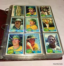 1981 Topps complete set in binder (726 cards) NMMT++ vending - 2 available