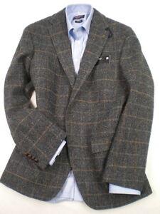Genuine Harris Tweed Blue/Grey Overcheck Jacket. 40&amp034 Short
