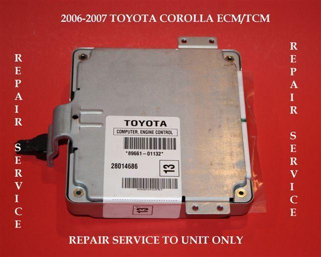 06 07 Toyota Corolla Ecu Ecm Rebuild Repair Service 4 Transmission Shift Issues