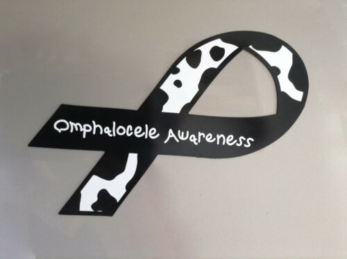 MOO//Mothers of Omphaloceles Logo Omphalocele Awareness Ribbon Magnet