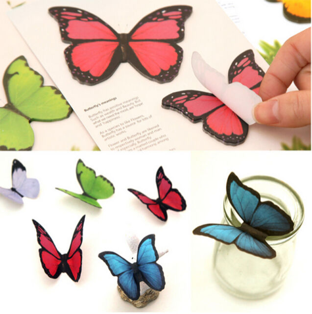Butterfly Sticker Washi Bookmark Marker Memo Index Tab Flags Sticky Notes Note