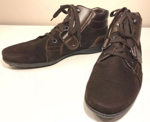 TODS Brown Suede and Leather Lace Up Women's Shoe