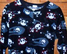 Cherokee Skulls Crossbones Skeleton Footed Pajamas Costume Black L 1 PC LASTONE
