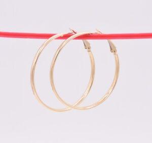 1-3-4-034-45mm-Plain-Shiny-Omega-Back-Hoop-Earrings-REAL-10K-Yellow-Gold