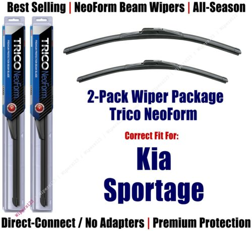 2pk Super-Premium NeoForm Wipers fit 2011-2016 Kia Sportage 16240//180