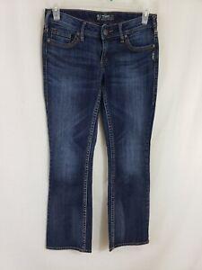 8eaf2f15 Silver Jeans Aiko Boot Cut Womens Blue Denim Size 29 x 31 Dark Wash ...