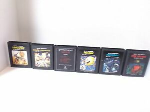 Lot of 6 Atari 2600 Games - Asteroids, Combat, Pac-Man, Warlords & More! TESTED