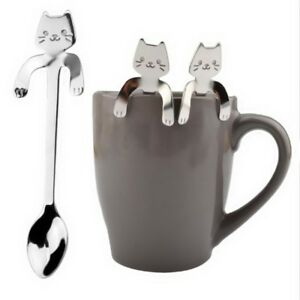 Stainless-Steel-Cute-Cat-Coffee-Drink-Spoon-Tableware-Kitchen-Supplies-Hanging