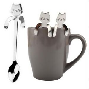 Stainless-Steel-Cute-Cat-Coffee-Drink-Spoon-Tableware-Kitchen-Supplies-Hanging