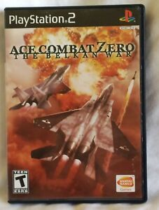 ACE COMBAT ZERO THE BELKAN WAR SONY PLAYSTATION 2 PS2 NO MANUAL DISC NEAR MINT