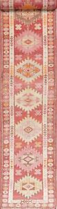 Palace-Size-Oushak-Turkey-Runner-Rug-Wool-Hand-Knotted-Oriental-Geometric-3-x-14