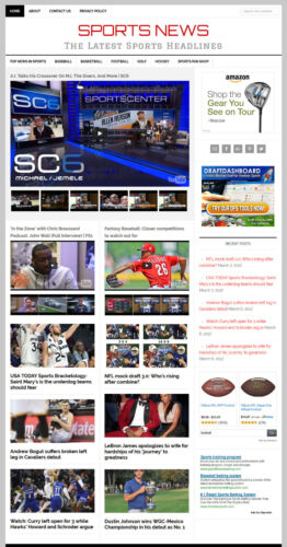 NEW DESIGN * SPORTS NEWS blog website business for sale w// AUTOMATIC CONTENT