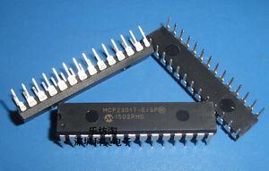 10PCS MCP23017-E//SP DIP-28 MCP23017 16-Bit I//O Expander with I2C Interface IC