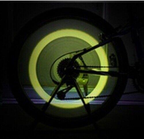 Tapón X 2 Luces Led para Válvula de Rueda de Bici Moto Bicicleta ValmoniSport