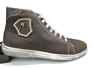 huge selection of f3ce4 9f36b Details zu Trachtenschuhe Herren Sneaker Braun Aus Leder mit Used Look  Sohle,Maddox
