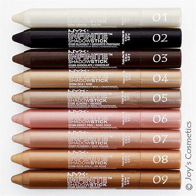 "3 NYX Infinite Waterproof  Eyeshadow Stick ""Pick Your 3 Color"" *Joy's cosmetics*"