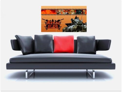 "METAL SLUG BORDERLESS MOSAIC TILE WALL POSTER 35/"" x 25/"" RETRO GAMING NEO GEO"