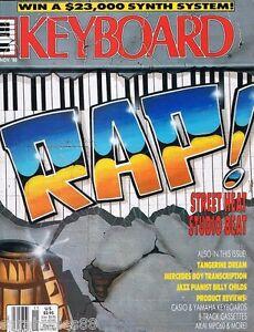1988-KEYBOARD-Magazine-w-Flexi-Disc-SLONIMSKY-RAP-Tangerine-Dream-D-50-DX711