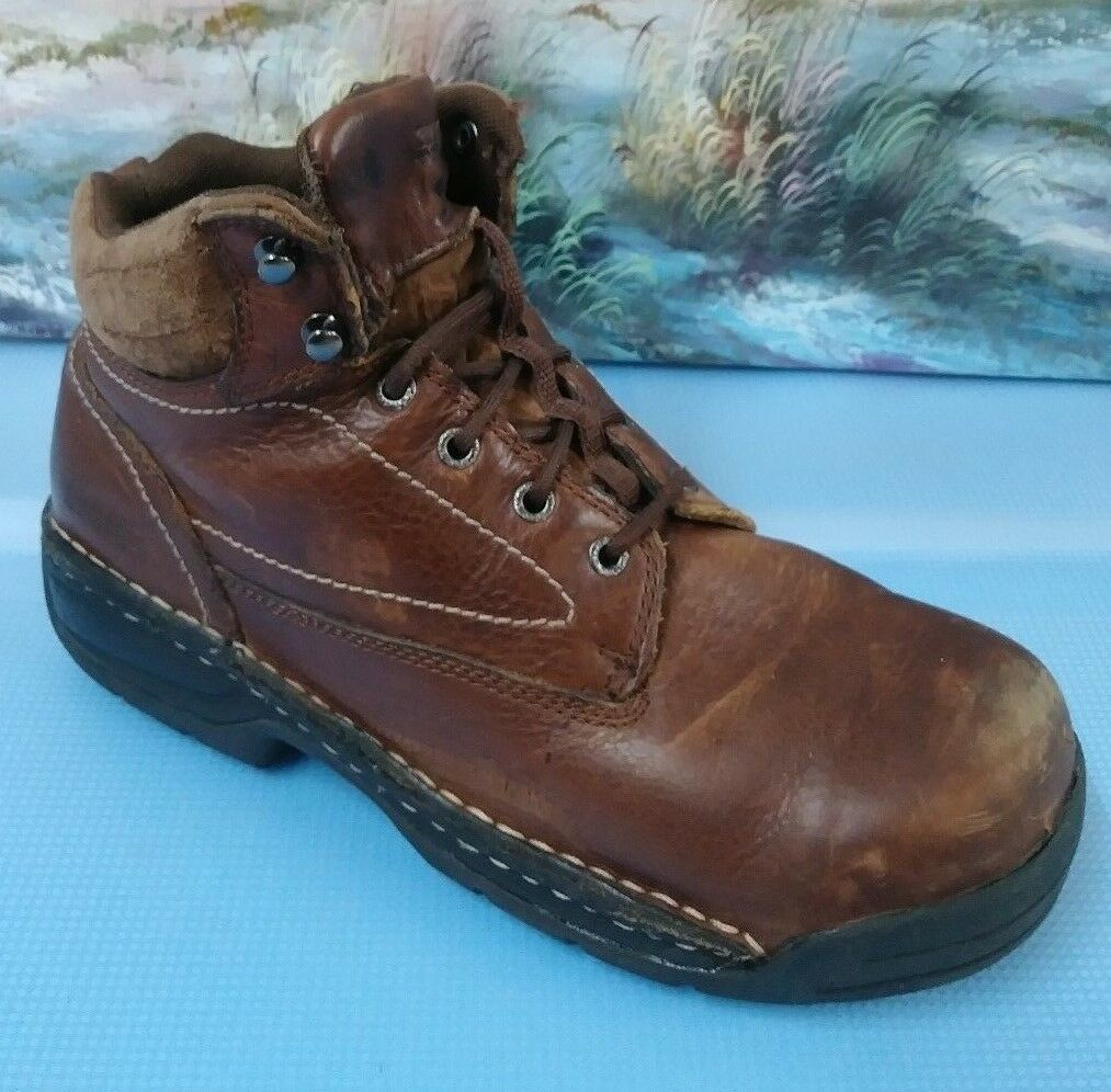Hytest Boots Size 11 Men Brown Upper Leather Steel toe Boots