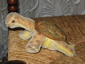 Steiff-Slo-Turtle-Schildkroete-2314-Mohair-Button-Shield-14-cm-5-5-inch