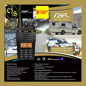 FDP-Pro-80CH-5W-UHF-Handheld-Transceiver-CB-IP67-Waterproof-and-Dustproof