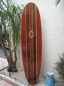 Details About Tropical Decorative Wood Surfboard Wall Art For A Coastal Beach Home Decor