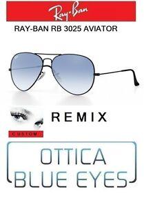 bc2eb18ac08 Image is loading RAYBAN-Sunglasses-Ray-Ban-Aviator-3025-Remix-Black-